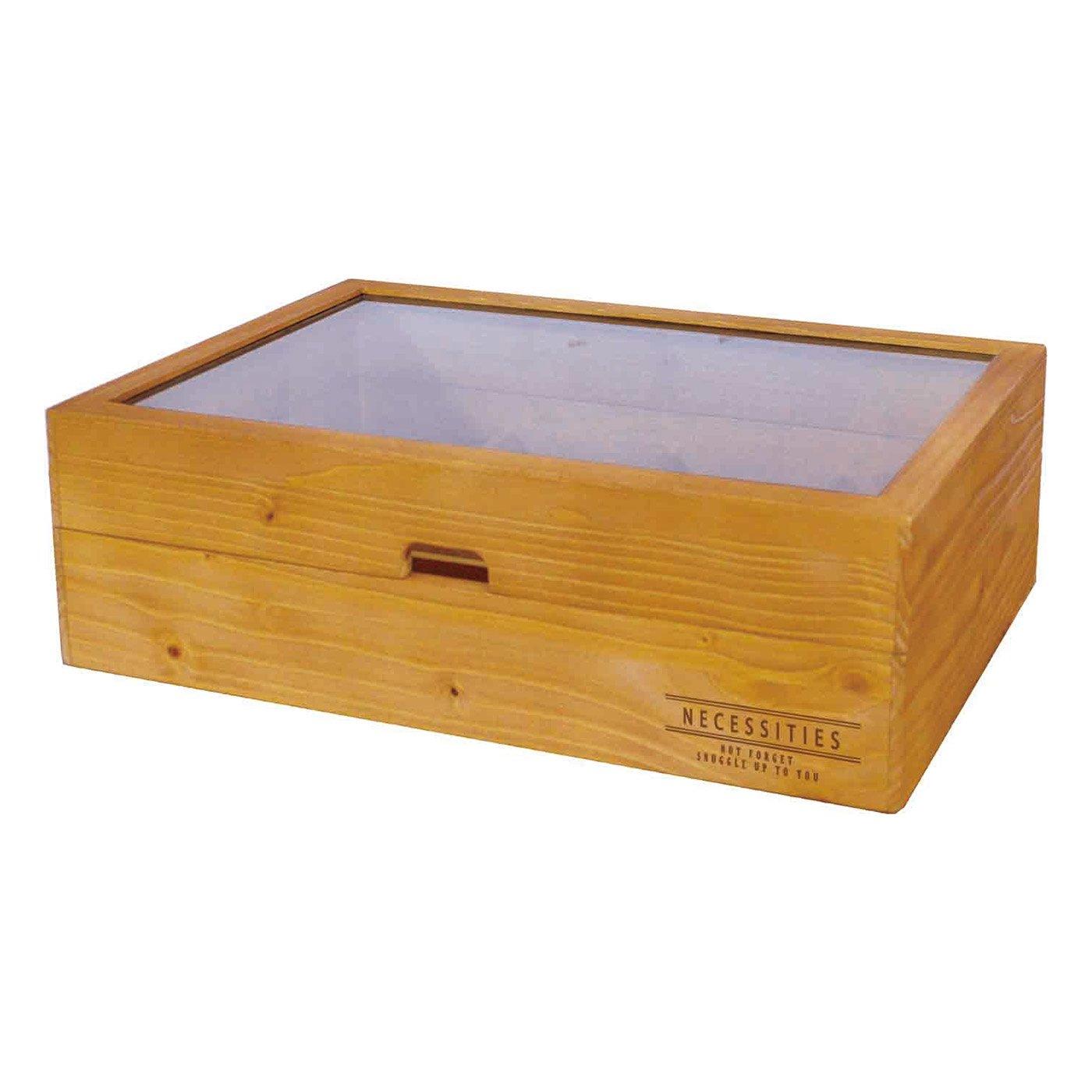 取り外し可能なしきりで自由にカスタマイズ!ぬくもり感じる木製小物ケース