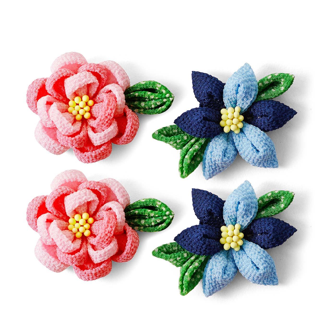 1回のお届けで、2種類4個のお花が作れます。