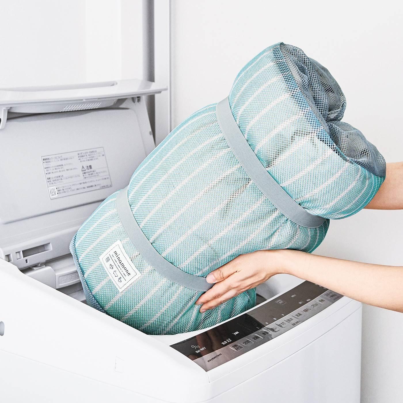 かぶせてくるり! 簡単装着 大物洗いが楽になる 布団洗濯ネットの会