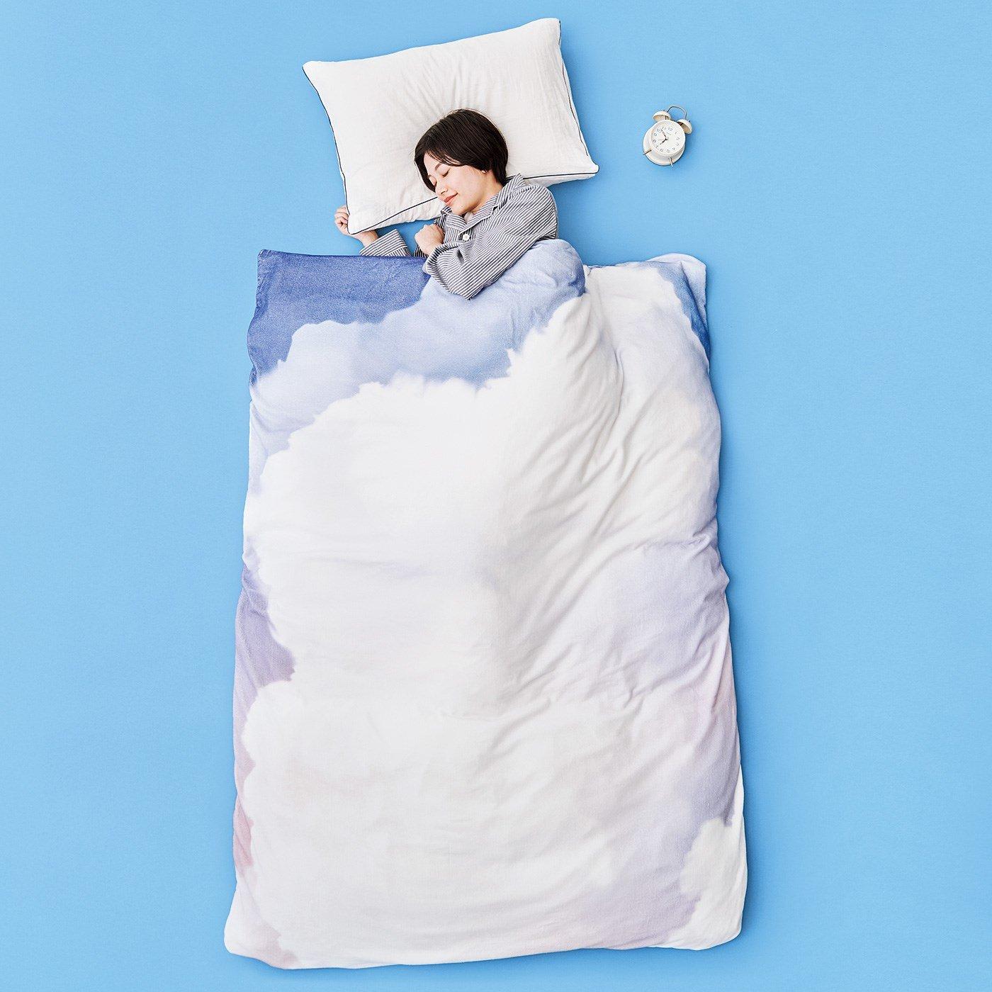 YOU+MORE! 朝焼け雲の中で眠る ふわふわ雲のシャーリング布団カバー