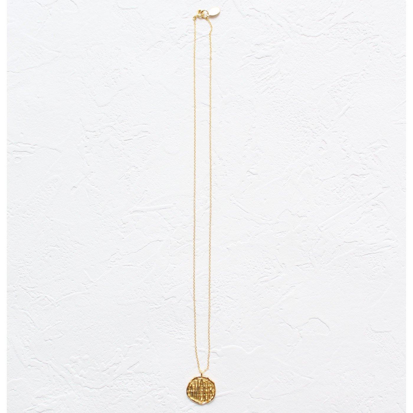 IEDIT[イディット] SELECT chibi jewelsロゴコインネックレス〈ゴールド〉