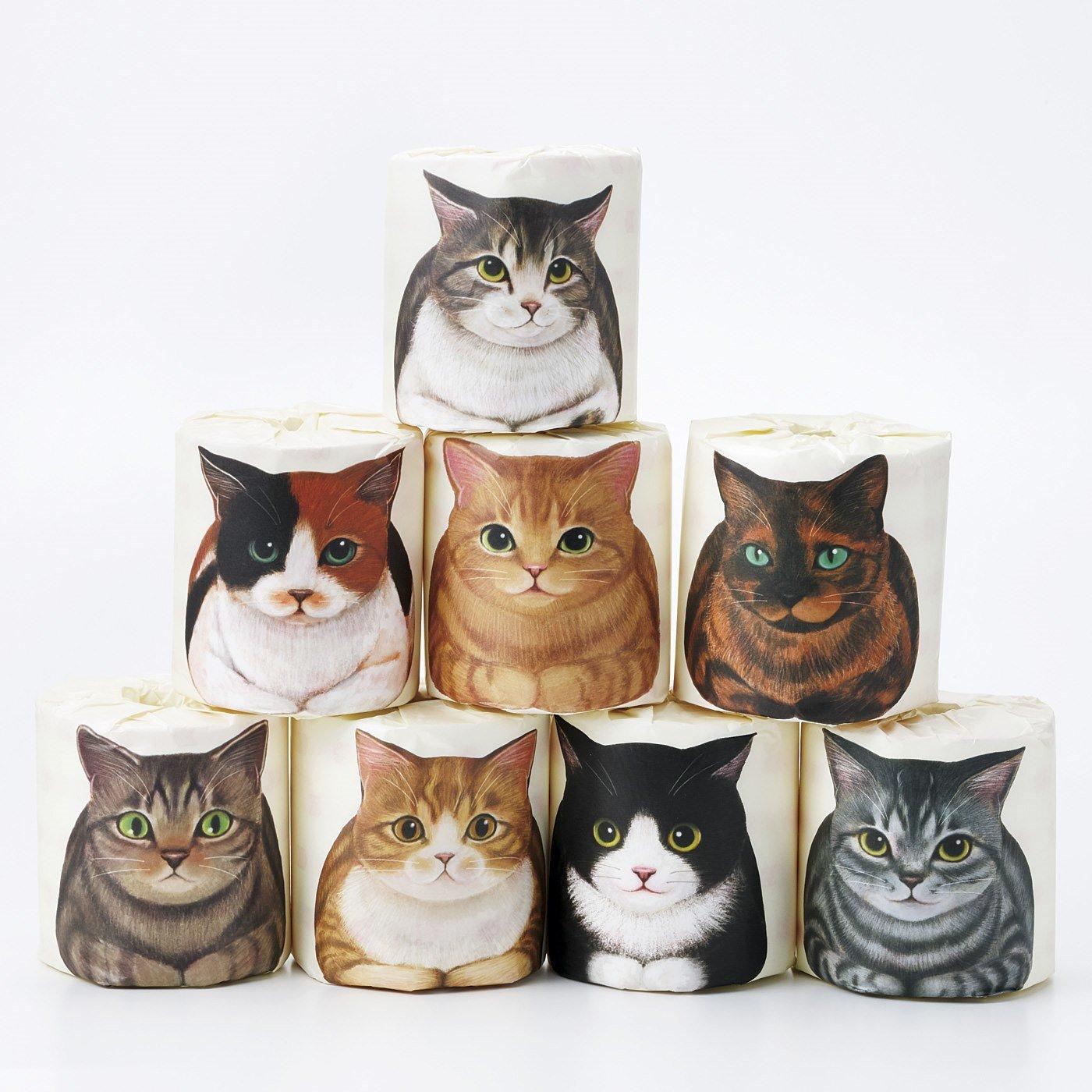 トイレまでおともしますニャ 香箱座り猫ロールペーパーの会