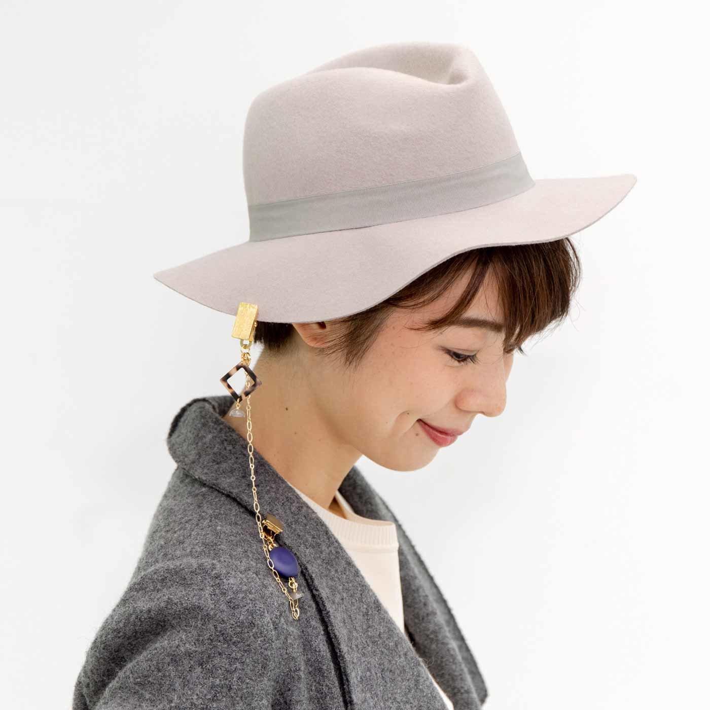 帽子やストールもう落とさない いろいろ使えるマグネットダブルクリップの会