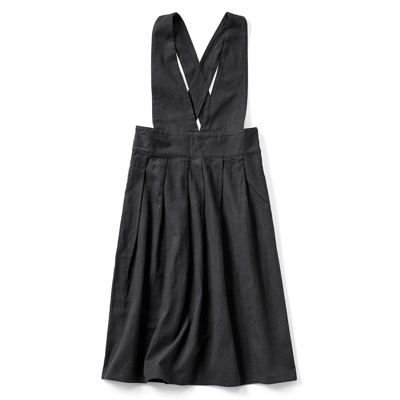 大人のジャンパースカート〈黒〉