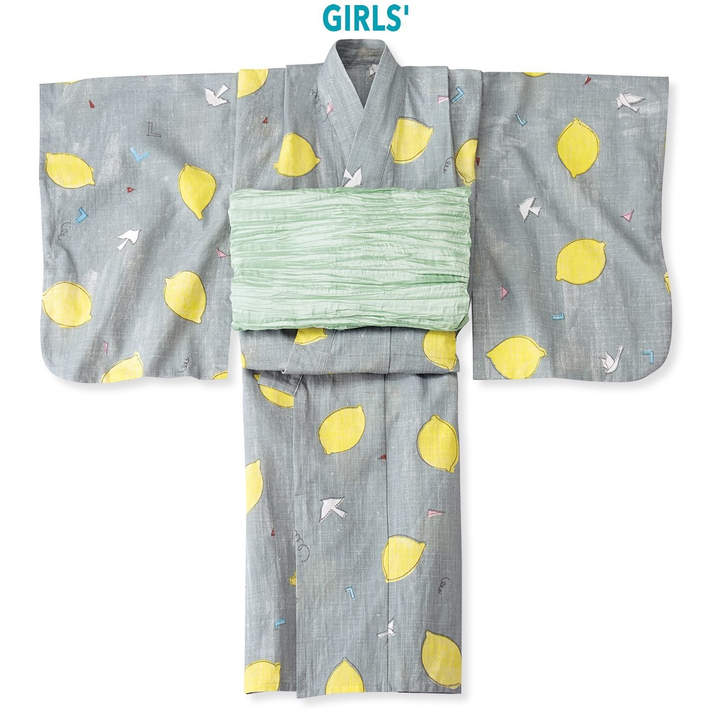 京都Subikiawa食器店さんとつくった レトロなレモン柄の浴衣(ゆかた)