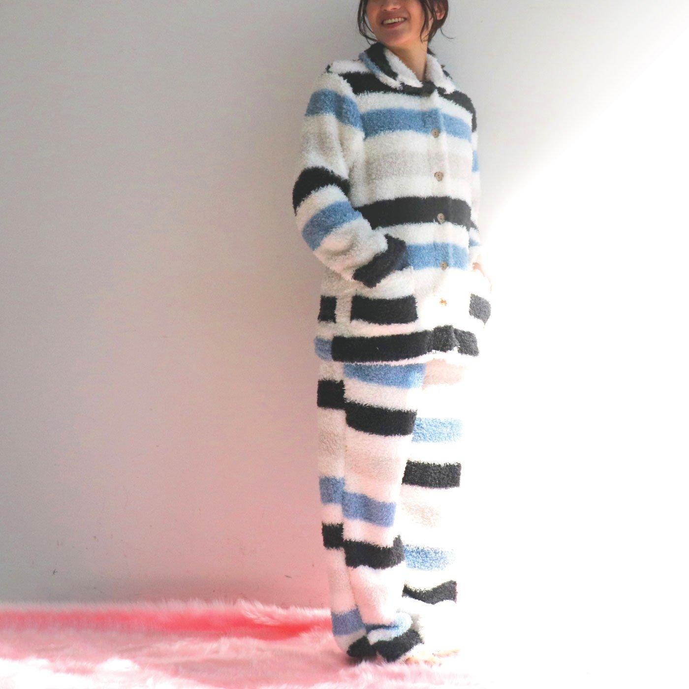 プードルボアボーダー 前開きパジャマ