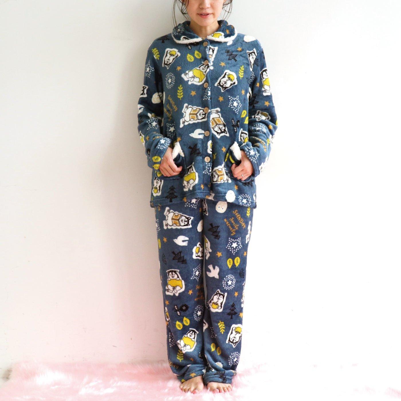 フランネル前開きパジャマ