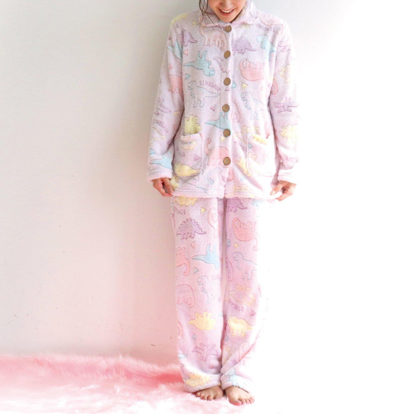 エンボスボア 前開きパジャマ