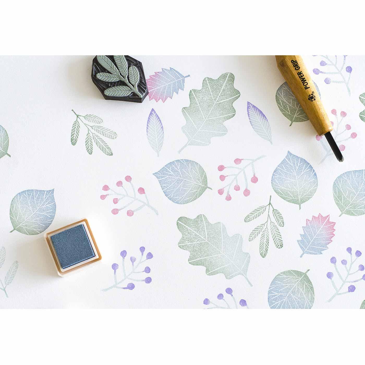 SeeMONO[シーモノ]|消しゴムはんこ作家さんに教わる 彫って押して楽しい 消しゴムはんこレッスンの会|インクを組み合わせれば、あなただけの色彩に。※1回のお届けで付属するインクパッドは一色です。