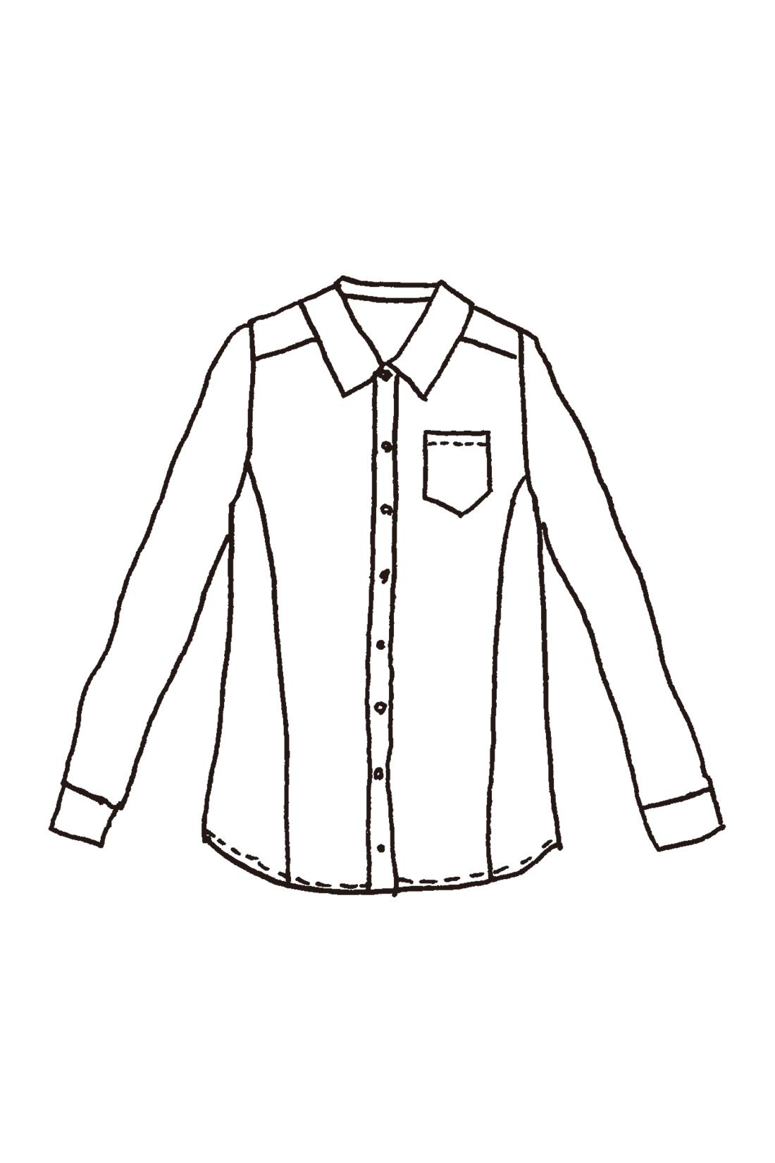 前寄りに入れた切り替えラインが華奢見せをアピール。重ね着してももたつかないジャストなサイズ感で、着まわしやすさも抜群です。