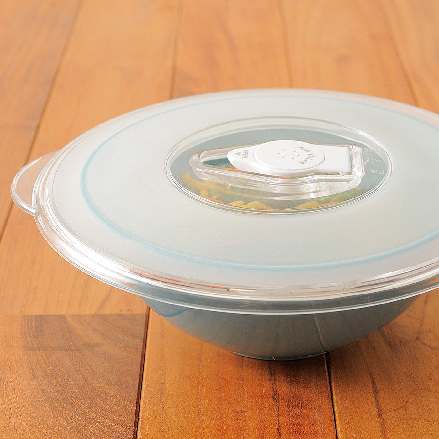 HOW TO COOK (3)汁気の多い料理や、残りものもお皿のまま保存できます。