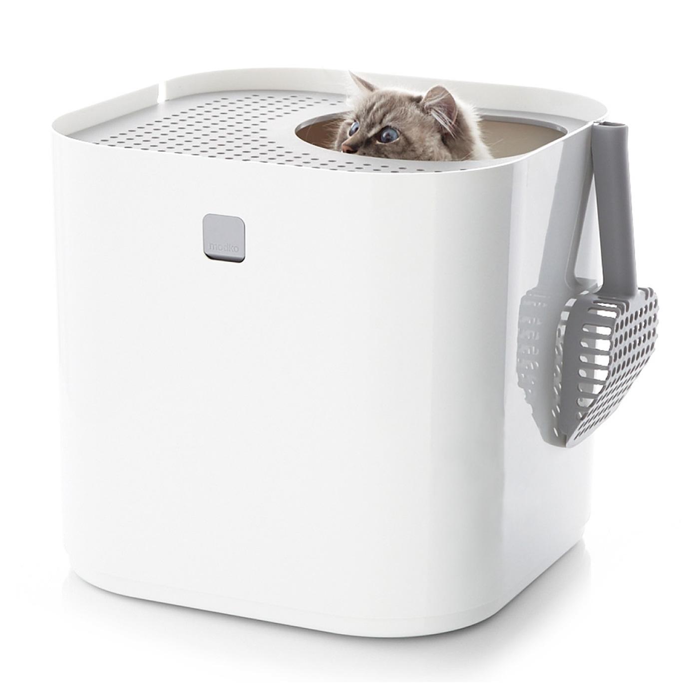 見た目がおしゃれで、掃除や手入れも簡単な猫トイレ。