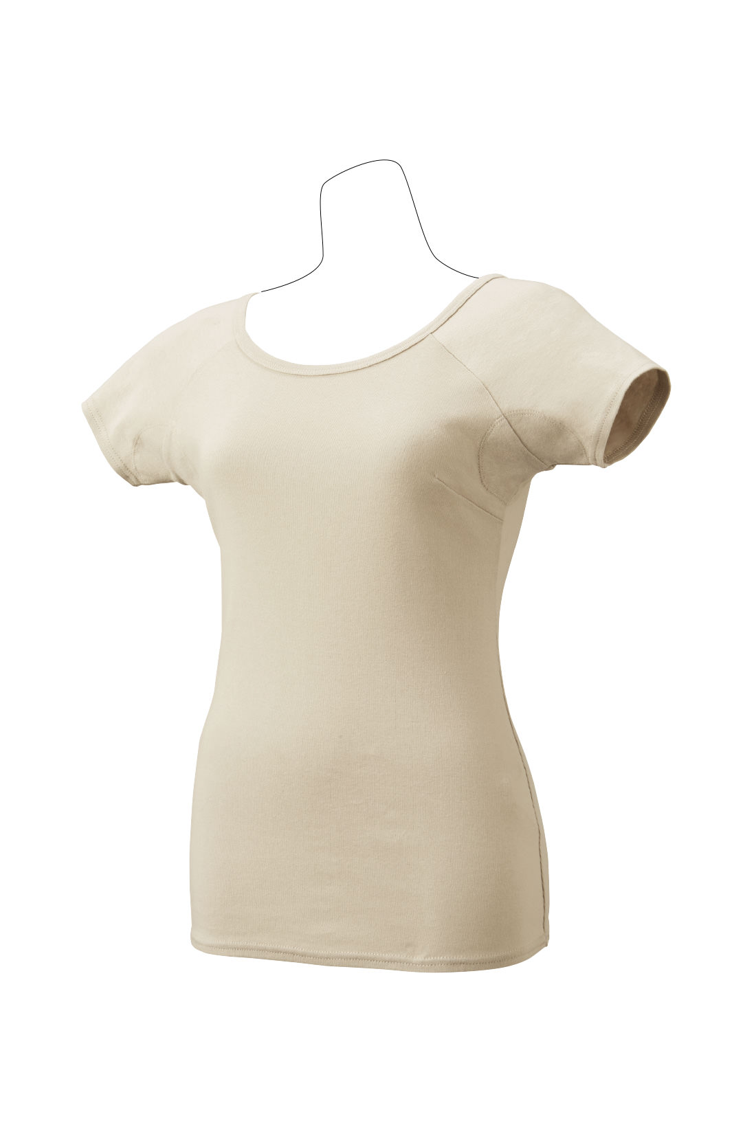 透けにくい王道の〈ベージュ〉 快適な綿100%でオールシーズン使えます。