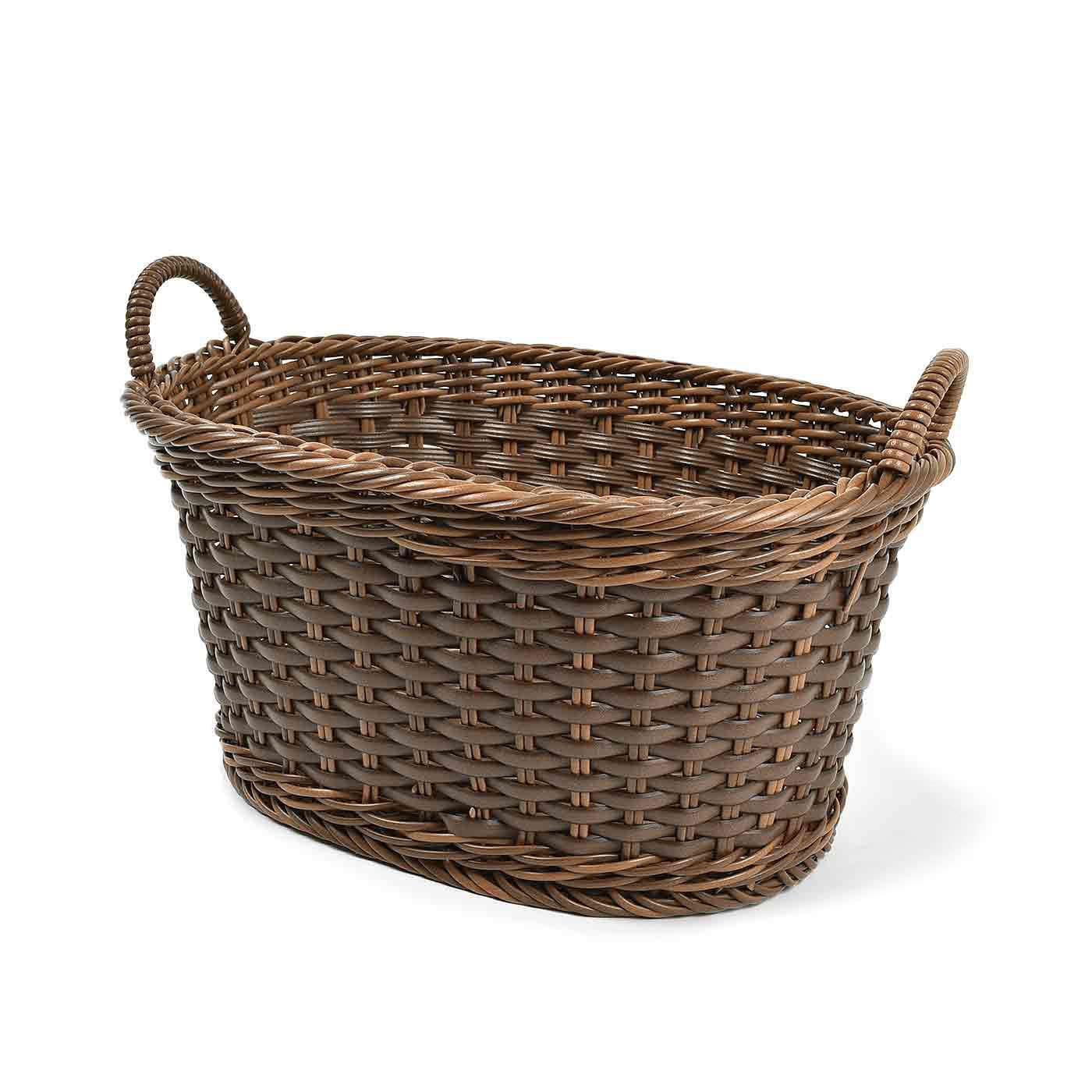アンティークのようなたたずまい タフに使える手編みバスケットの会
