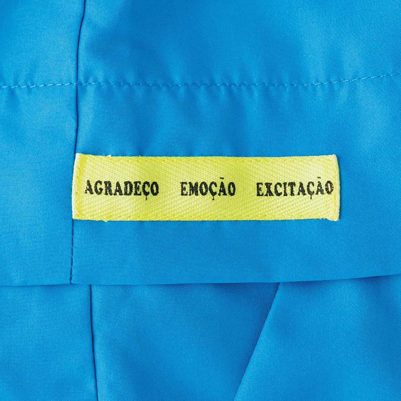 ミサンガのもとになったボンフィンテープに、憲剛選手の座右の銘「感謝 ! 感激 ! 感動 ! 」をポルトガル語で表現。
