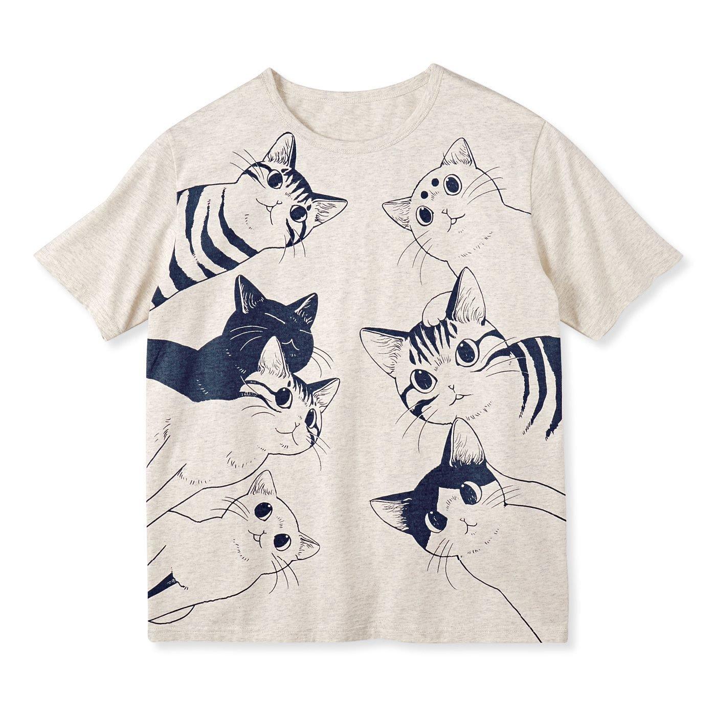 漫画家 山野りんりんさんとつくった 飛び出すようなインパクト 猫好き猛アピールTシャツ