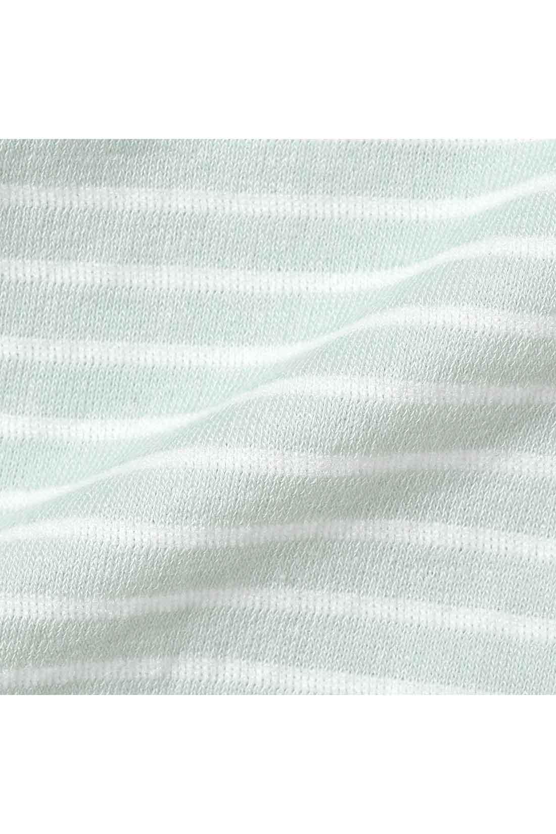 安心のすっぽり深ばき丈♪  裏パイルの綿混ショーツ〈ライトグリーン〉