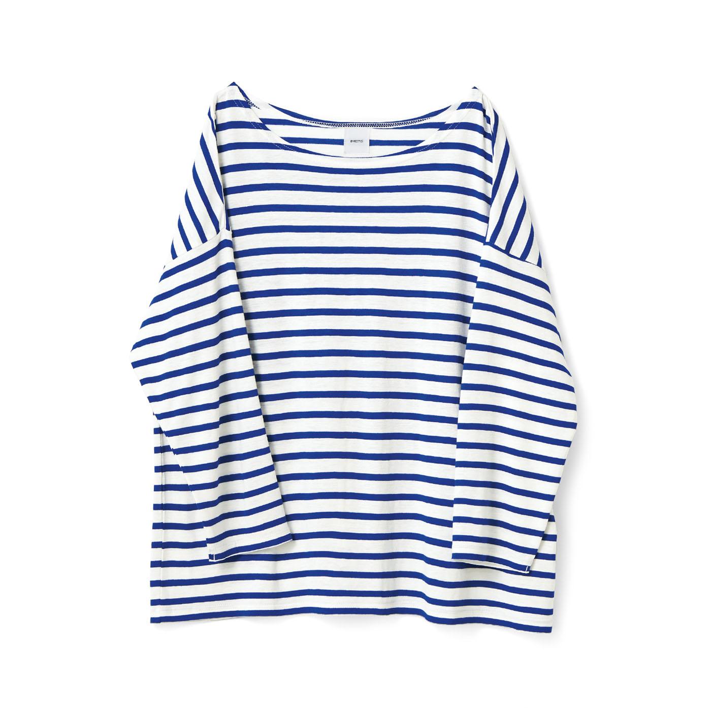 avecmoi 八分袖Tシャツ〈ボーダー〉