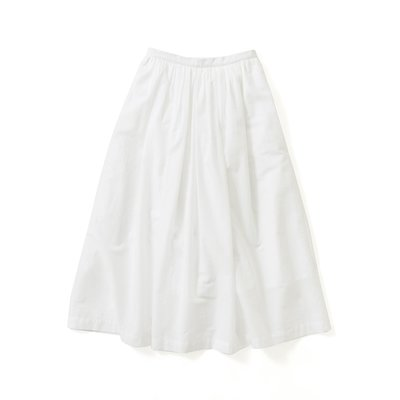 avecmoi ギャザースカート〈ホワイト〉【送料無料】
