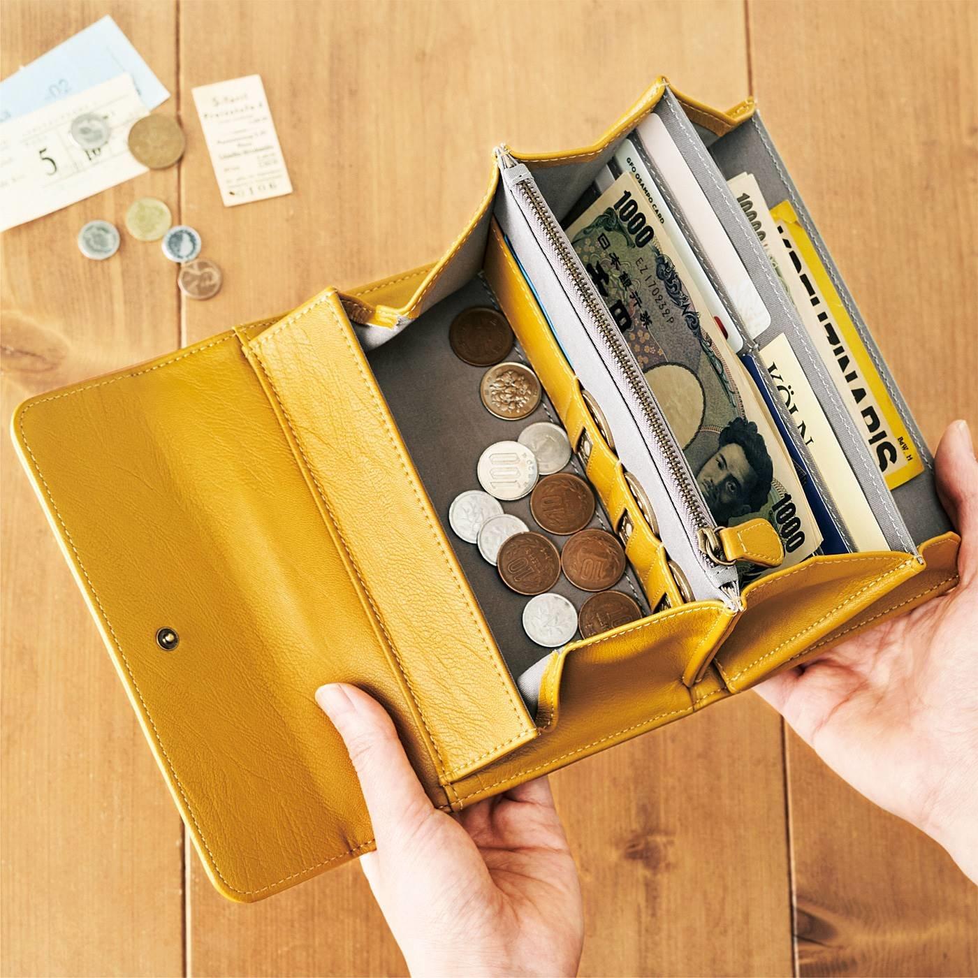 Squee! 500円玉貯金を応援 3,000円貯まるポケット付きギャルソン財布の会
