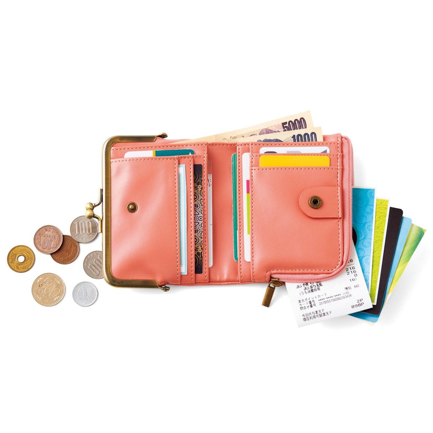 がま口とL字ファスナーが魅力 しあわせくすみ色の手のり財布の会