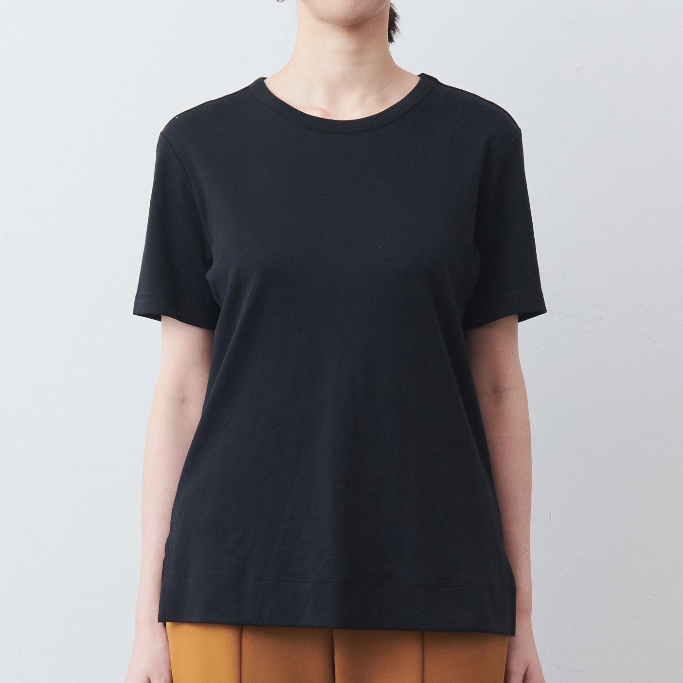 DRECOバイヤーズセレクト 大人の高機能スーピマコットンTシャツ〈ブラック〉