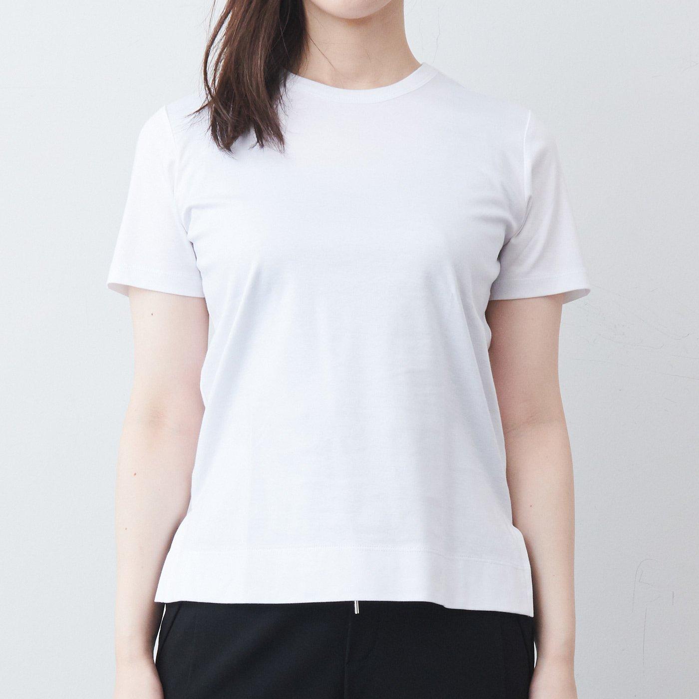 DRECOバイヤーズセレクト 大人の高機能スーピマコットンTシャツ〈ホワイト〉