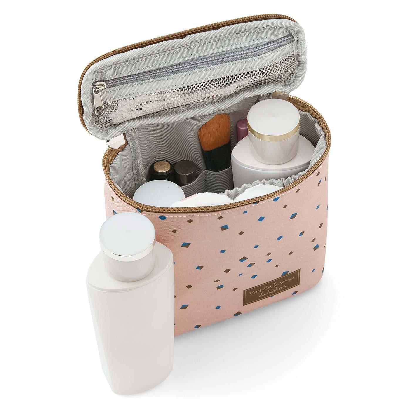 フェリシモ 基礎化粧品まるごと立て収納 スリムサイズのバニティーポーチの会