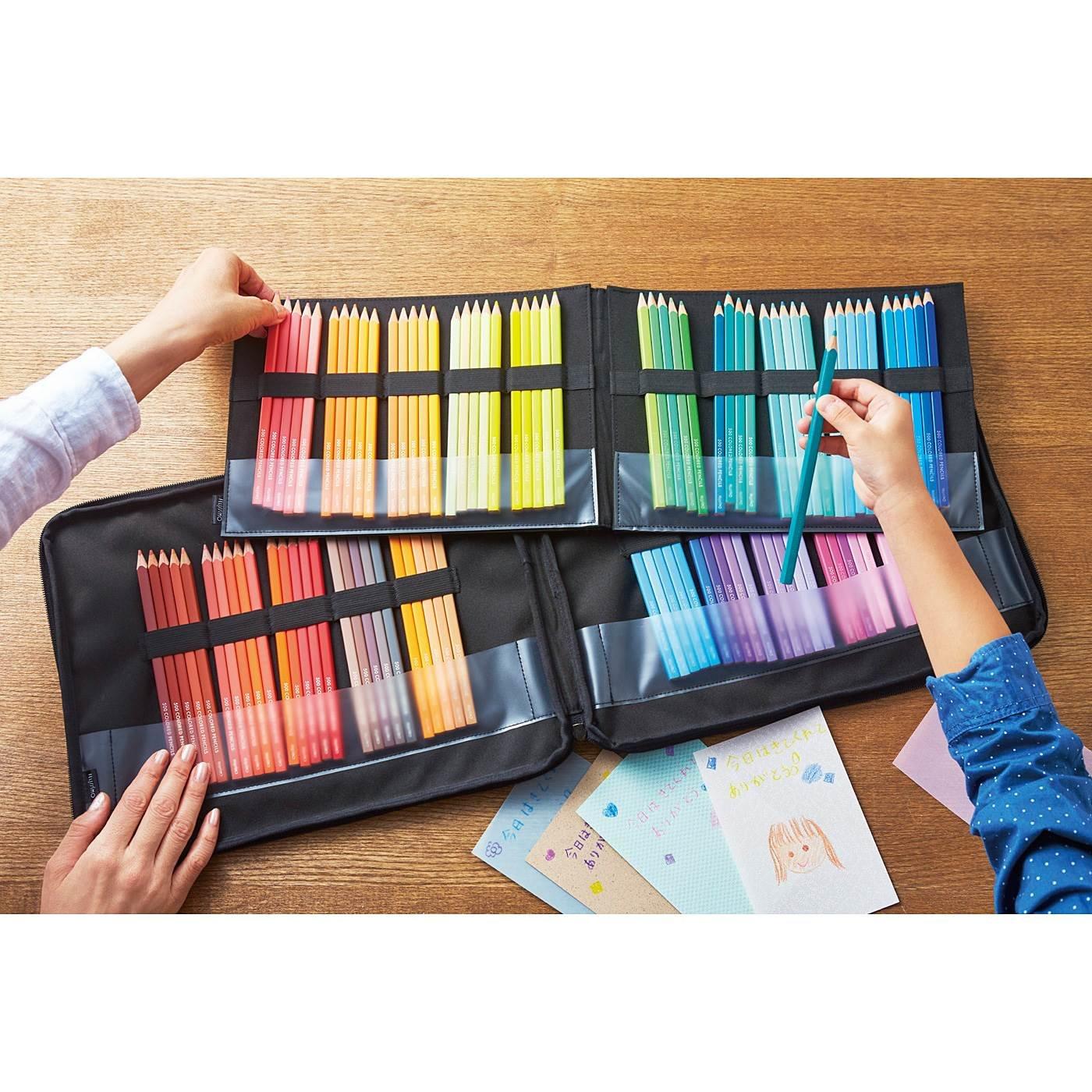 500色の色えんぴつ TOKYO SEEDS 100本収納できる 色えんぴつケース パレットバッグの会