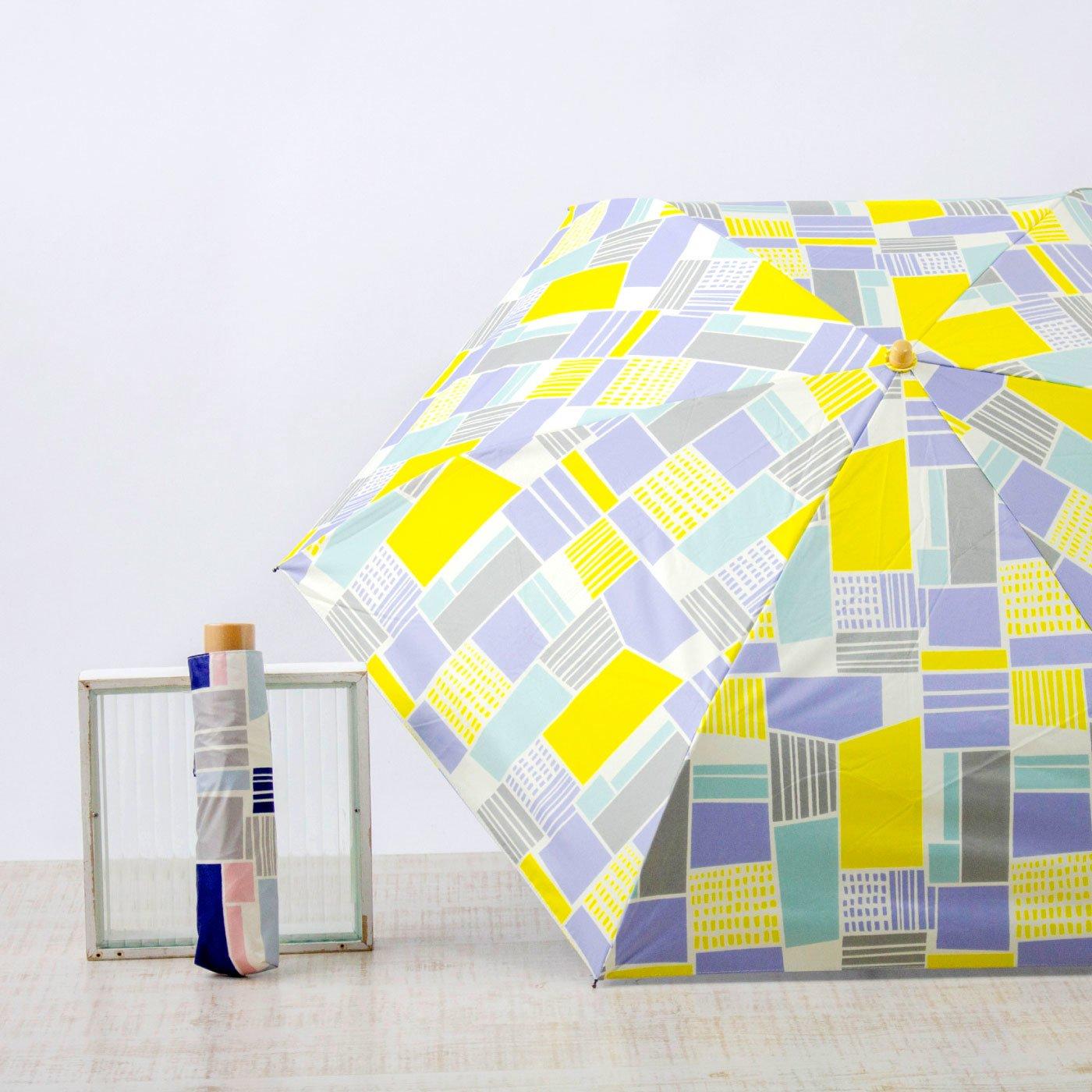 ナチュラル幾何学柄の折りたたみ日傘