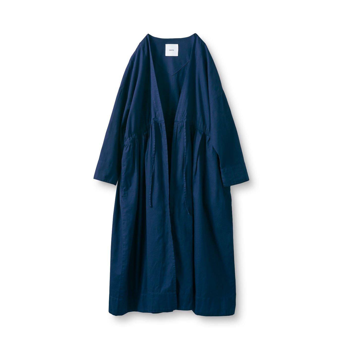 アヴェクモワ 羽織りカーディガン〈紺〉