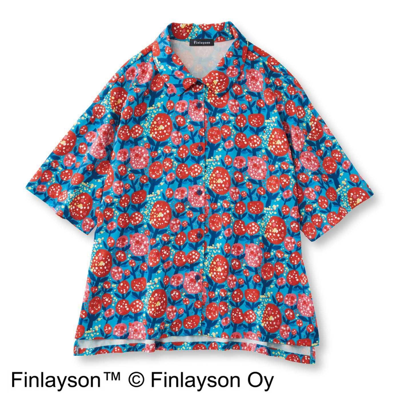 【3~10日でお届け】フィンレイソン×フェリシモ デザインコンペ 陽気なとろりんシャツ〈SAKU〉サク