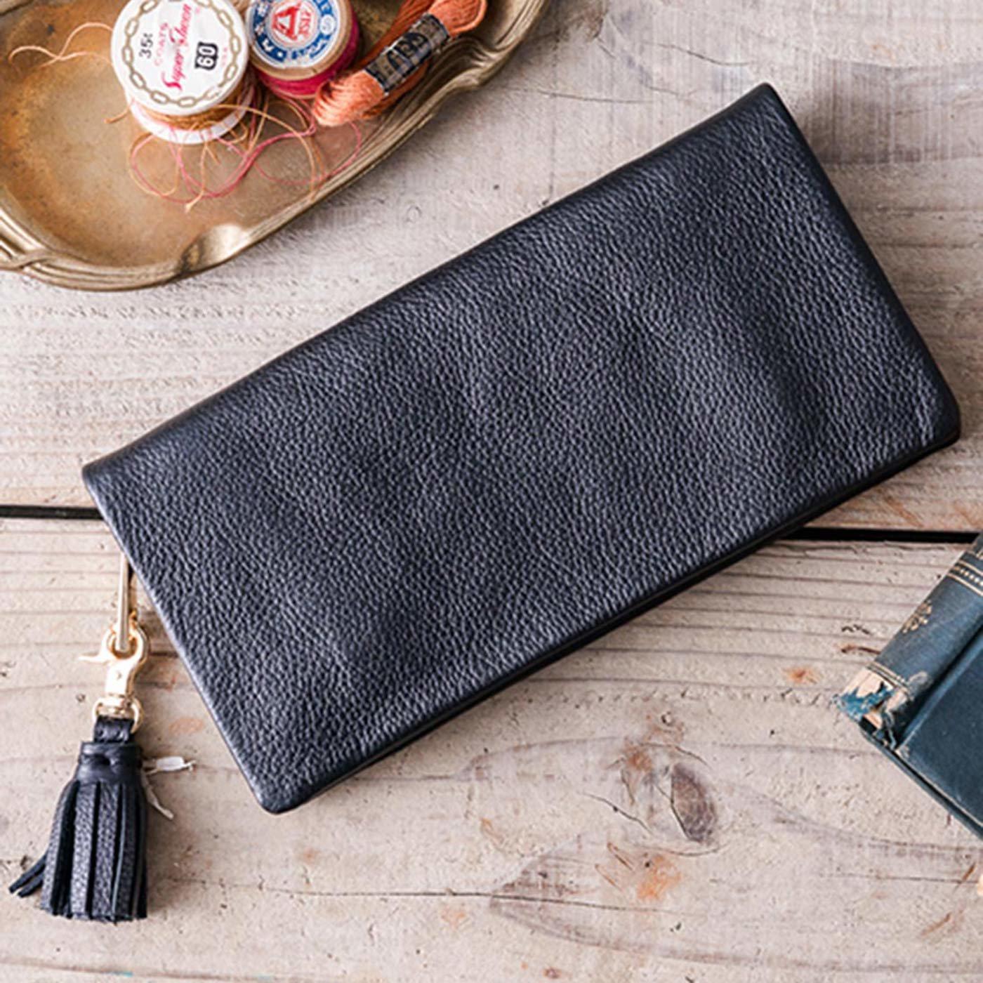 IEDIT[イディット] SELECT やわらかマットレザーで手になじむ 長く使いこみたい本革長財布