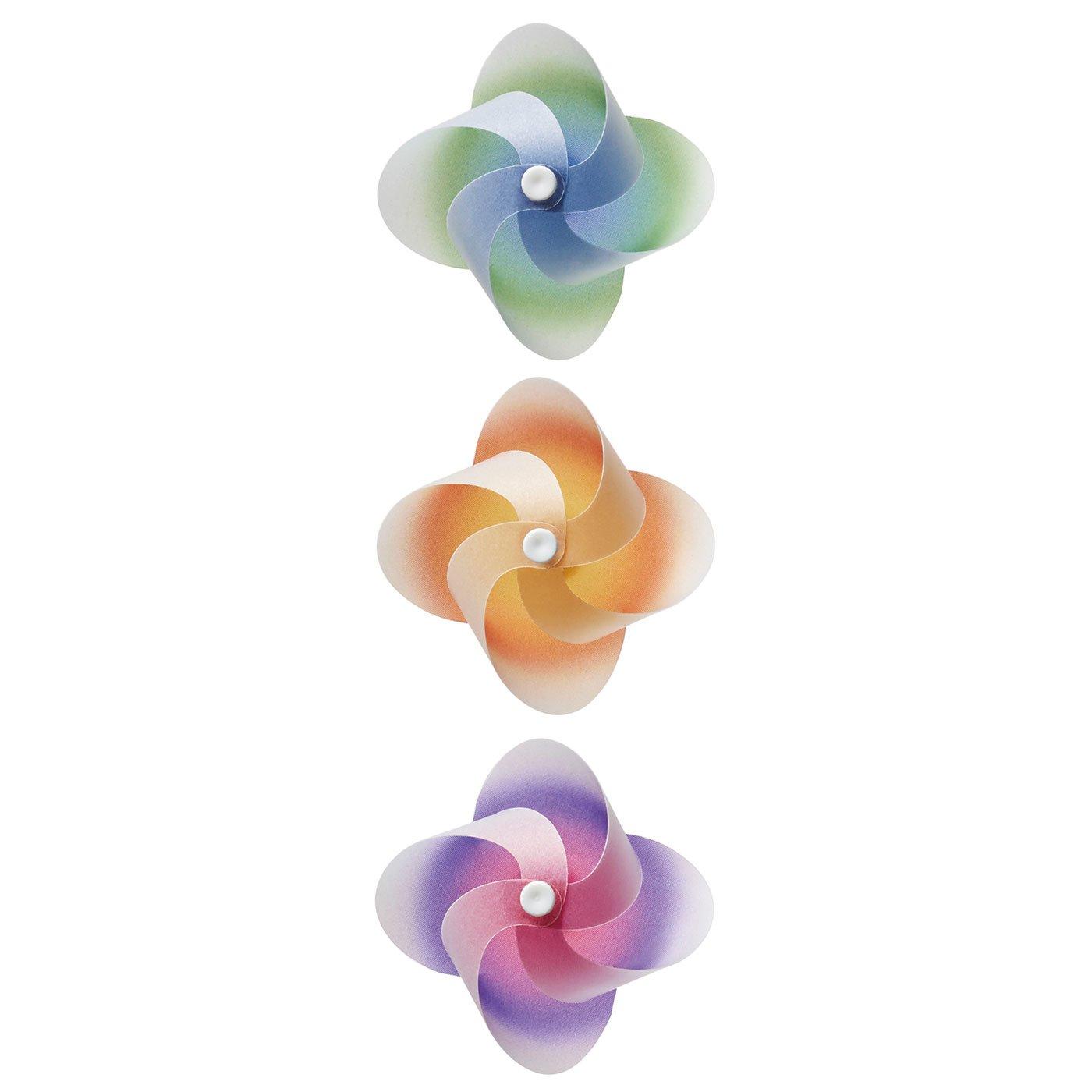 暮らしに風を飾るマグネット「カゼグルマ」3個セット(カラフル)