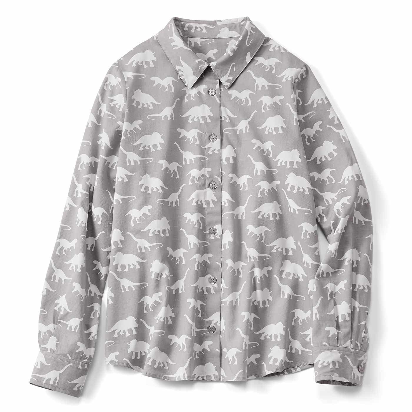 くすっと楽しい 恐竜柄シャツ