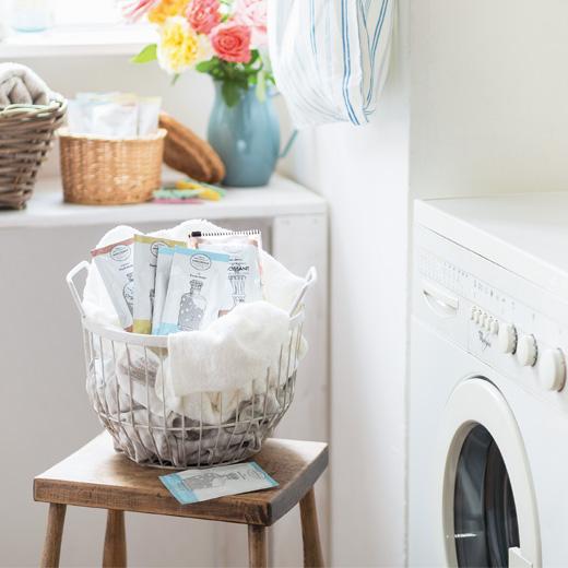 洗濯の時間がリフレッシュタイムに!※スライダー式のパッケージは今回のセットに含まれません。