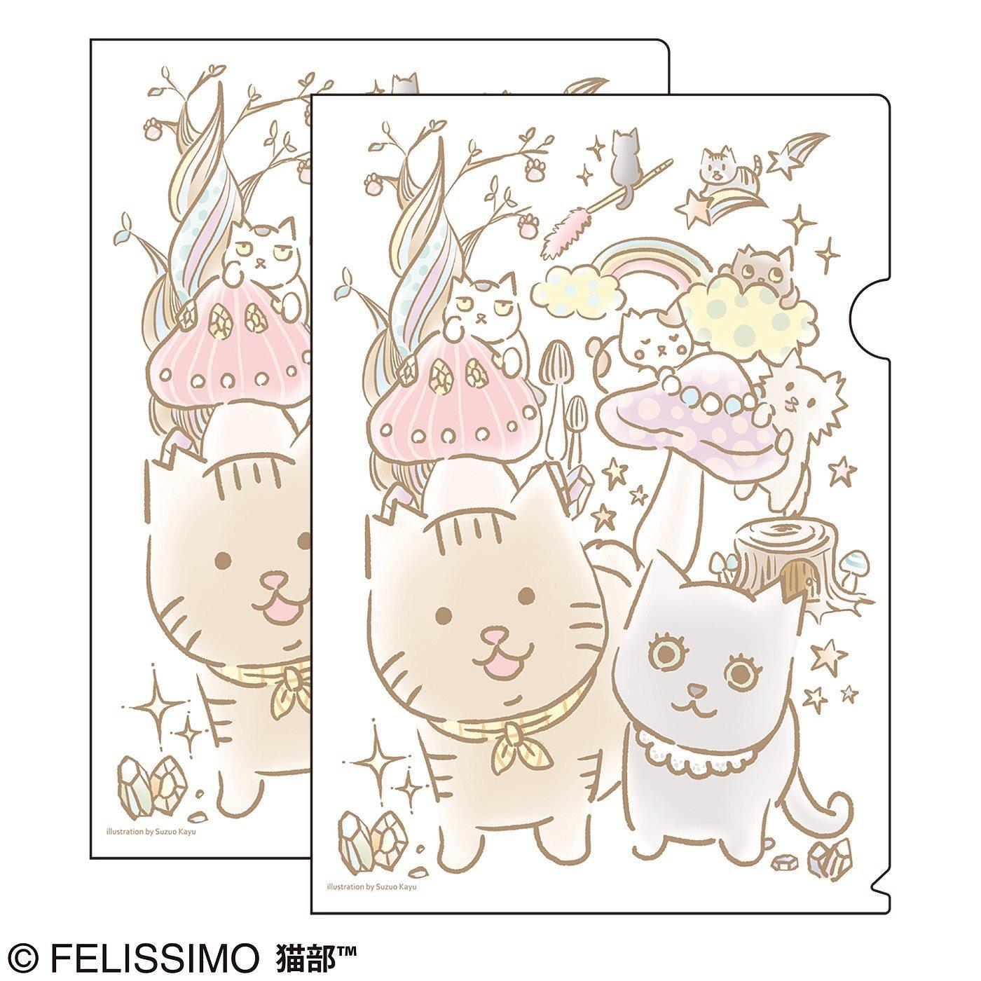 猫部×鈴尾粥 地域猫チャリティークリアファイル2019