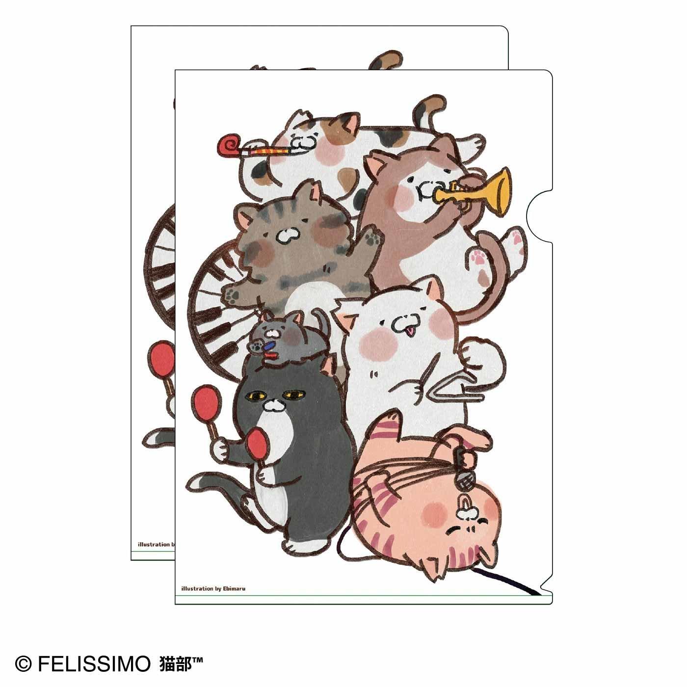 猫部×えび丸 地域猫チャリティークリアファイル2020