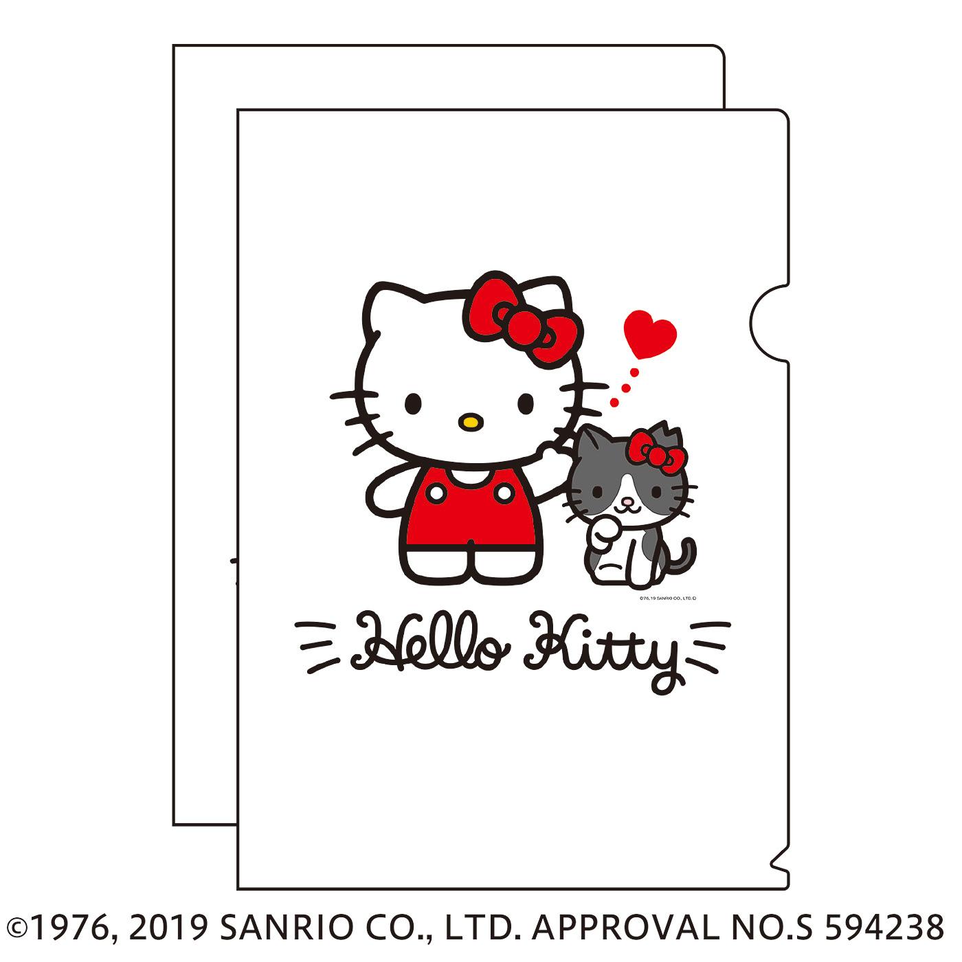 猫部×ハローキティ 地域猫チャリティークリアファイル2019