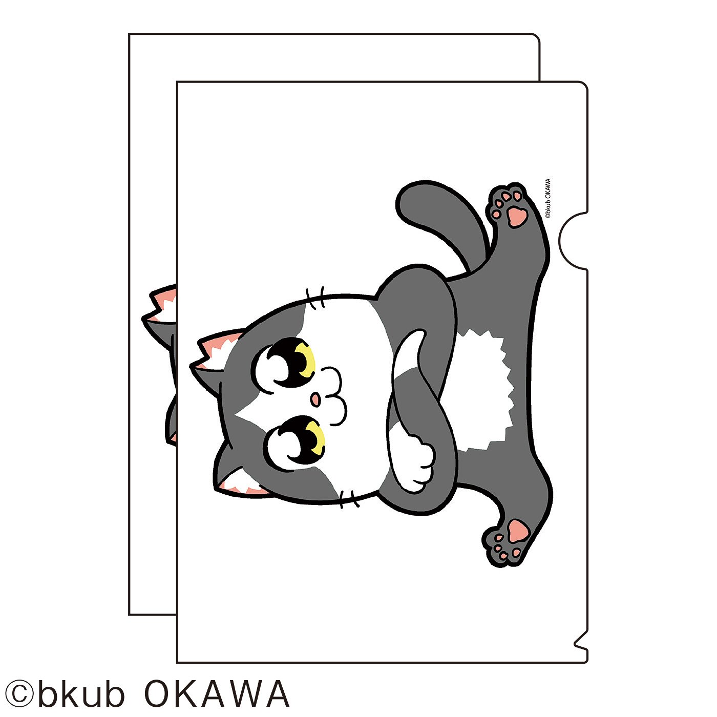 猫部×大川ぶくぶ 地域猫チャリティークリアファイル2019