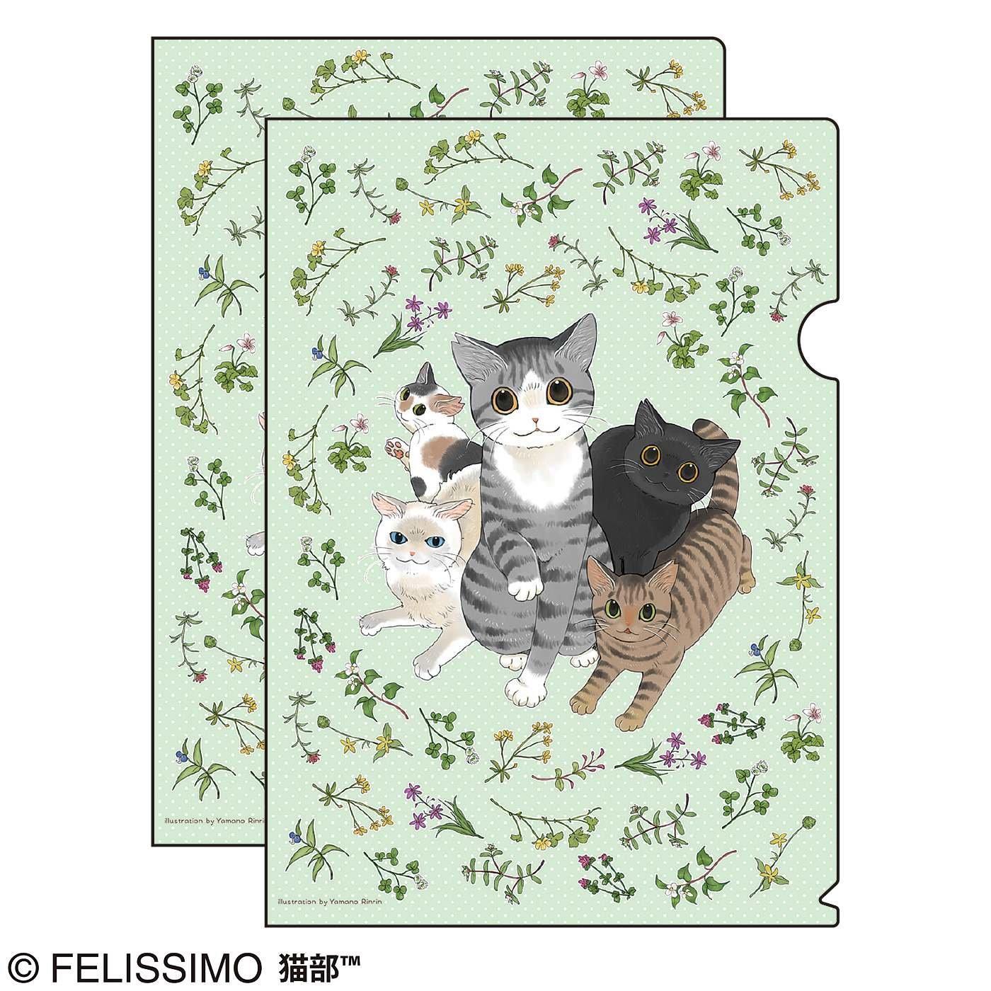 猫部×山野りんりん 地域猫チャリティークリアファイル2019