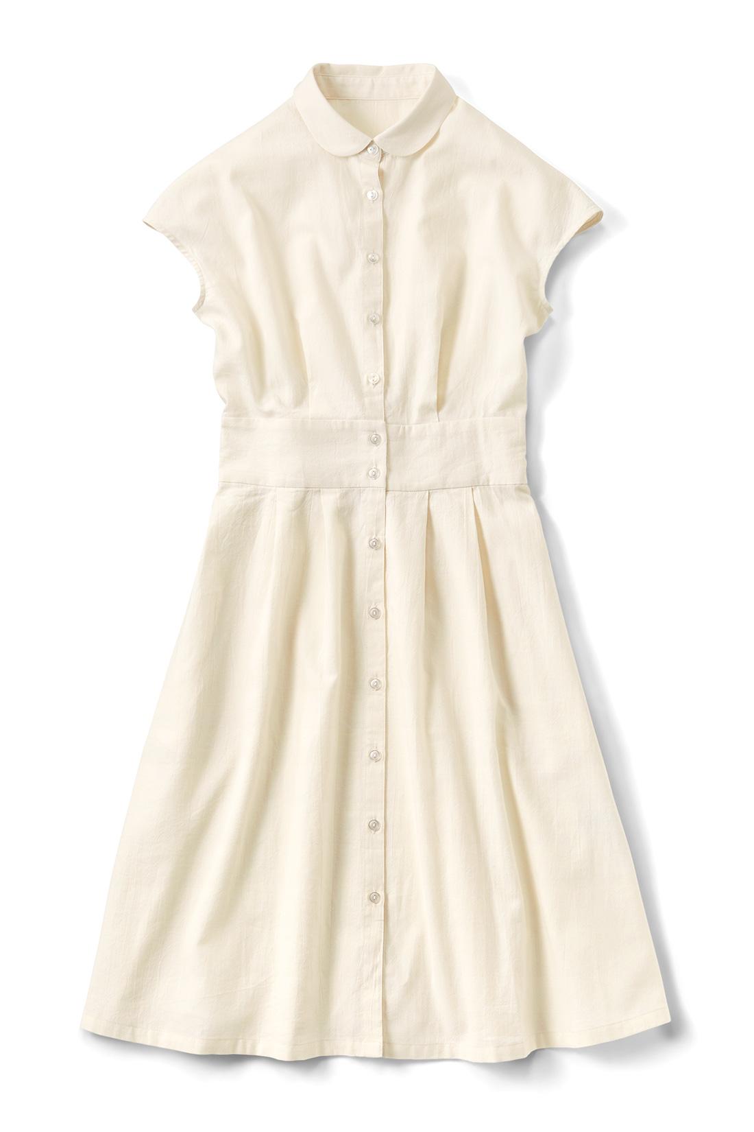 〈オフホワイト〉 タックでふんわりオトナかわいい。前を開けてはおるようにも着られます。