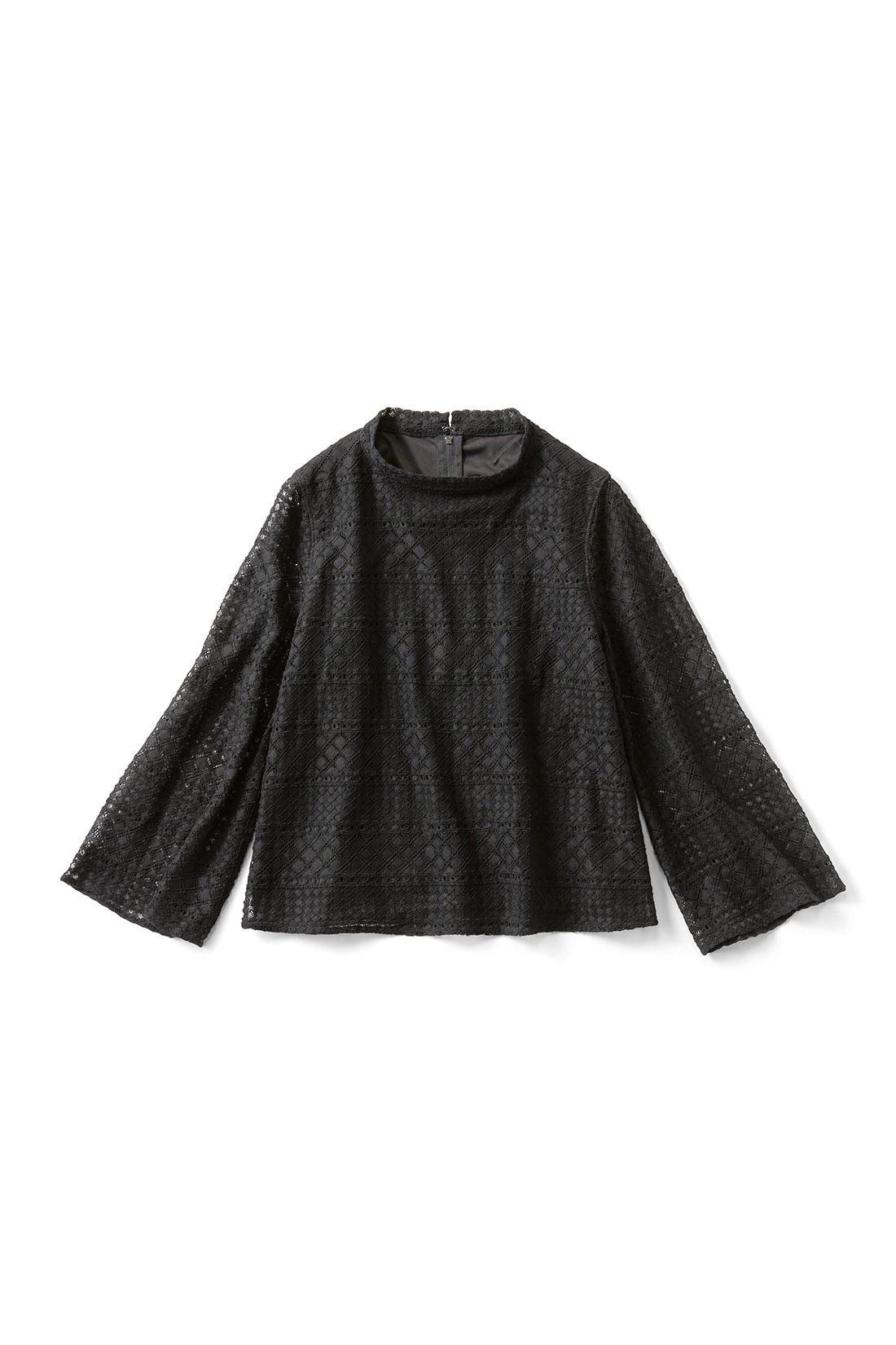 〈ブラック〉 袖の部分は、スケスケなの。