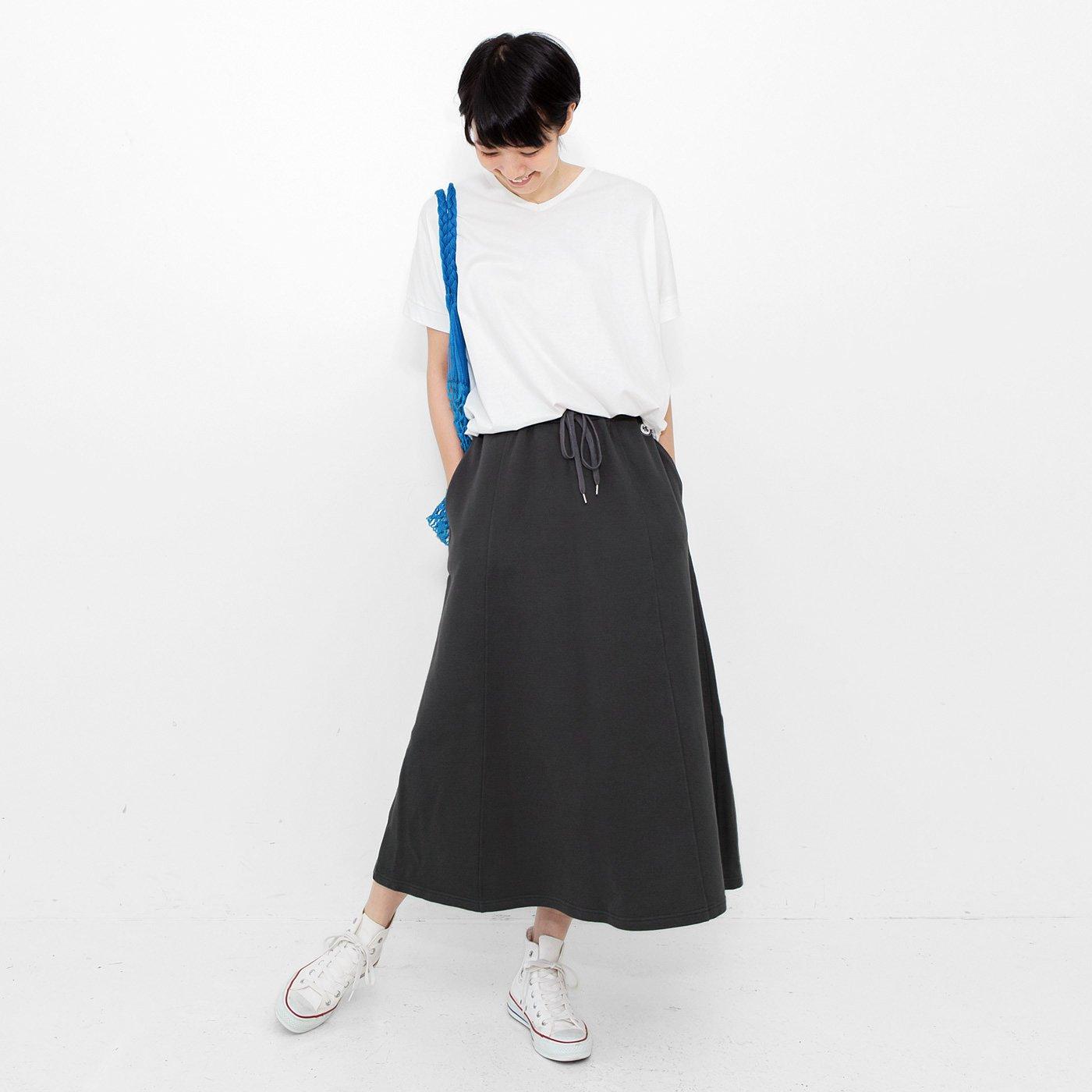 フラウグラット 絶妙シルエットですっきり決まる大人のスウェットロングスカート