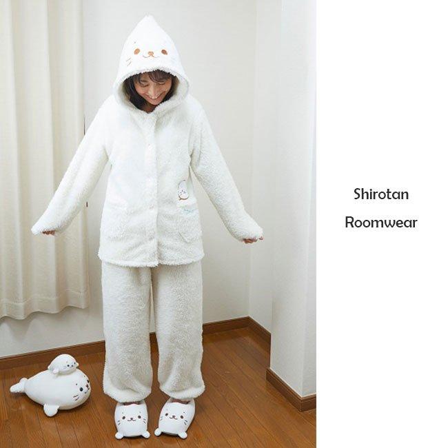 しろたん モコモコ着ぐるみパジャマ