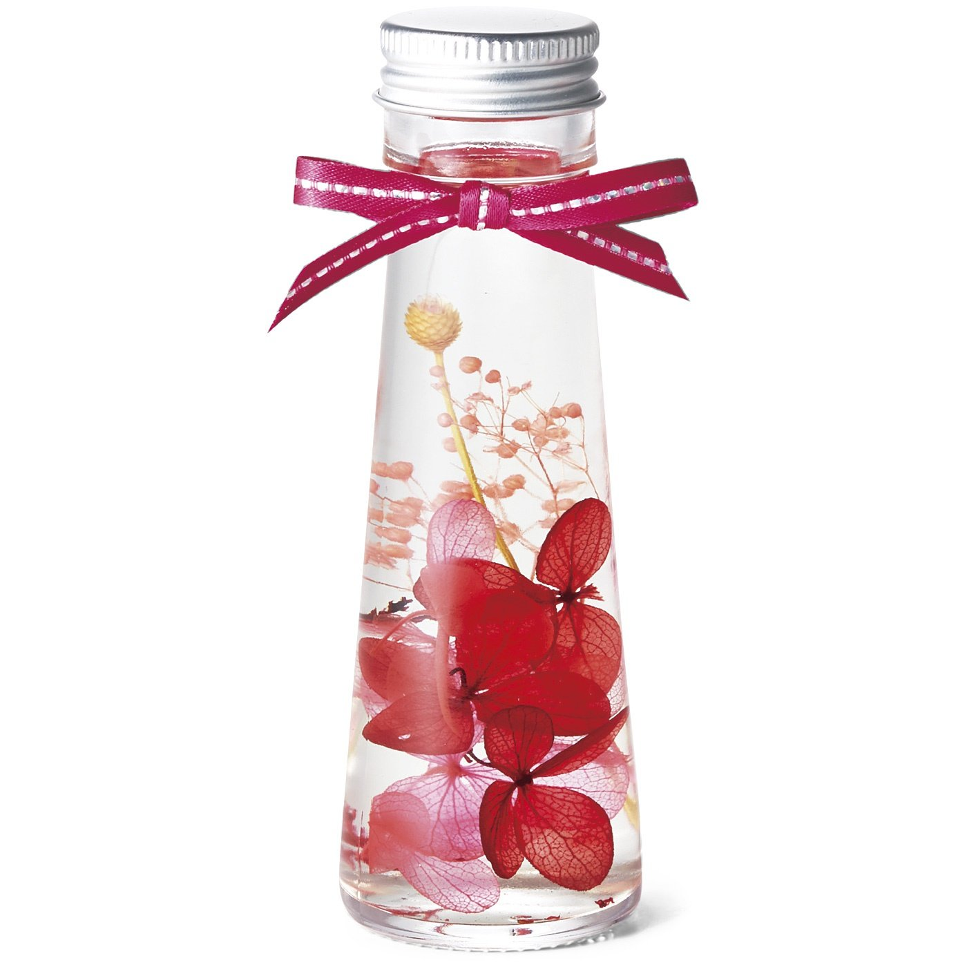 リボンでドレスアップ 花と香りを楽しめる ハーバリウムディフューザーの会(8回予約)