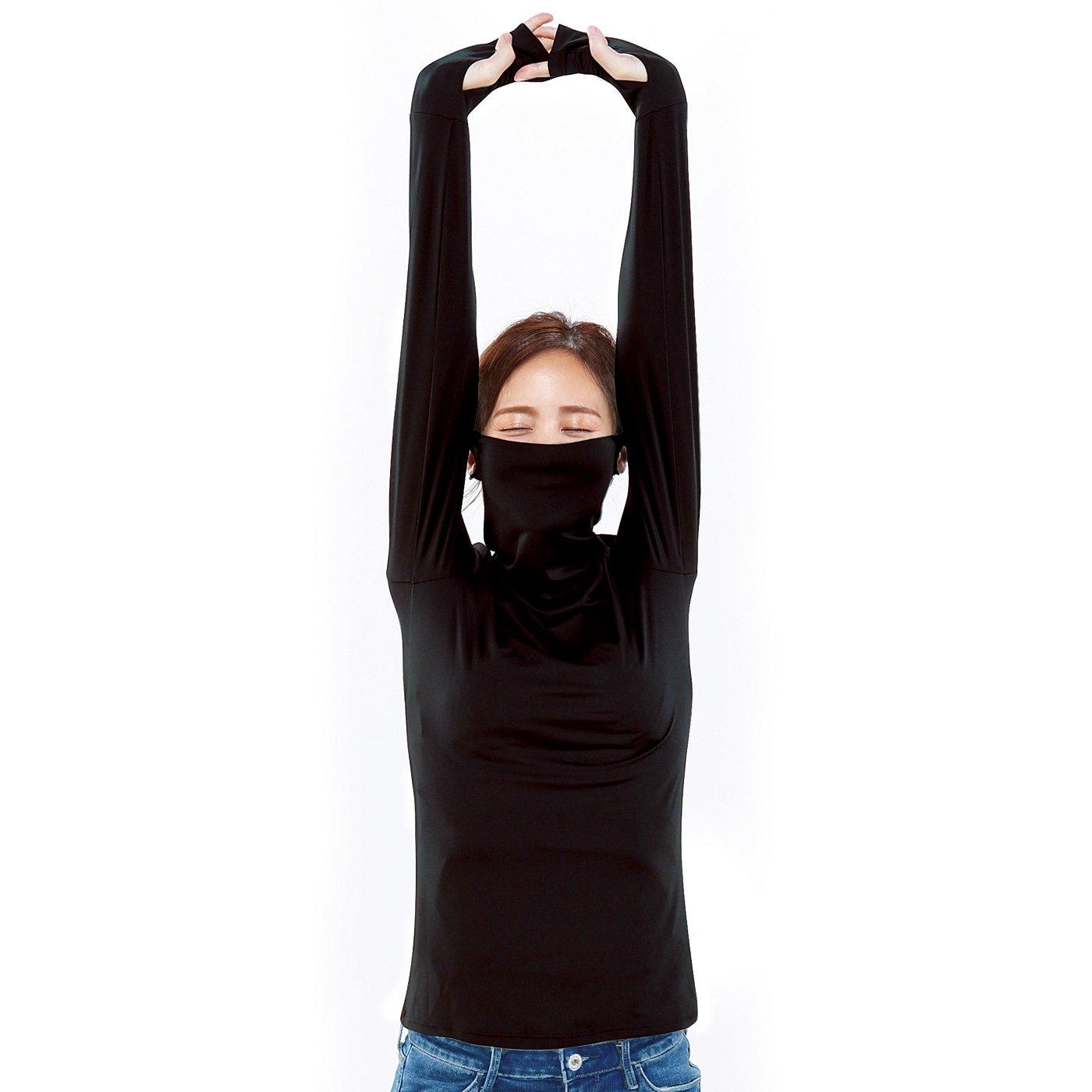 着るだけ簡単UV対策 ストレッチUVロングTシャツ