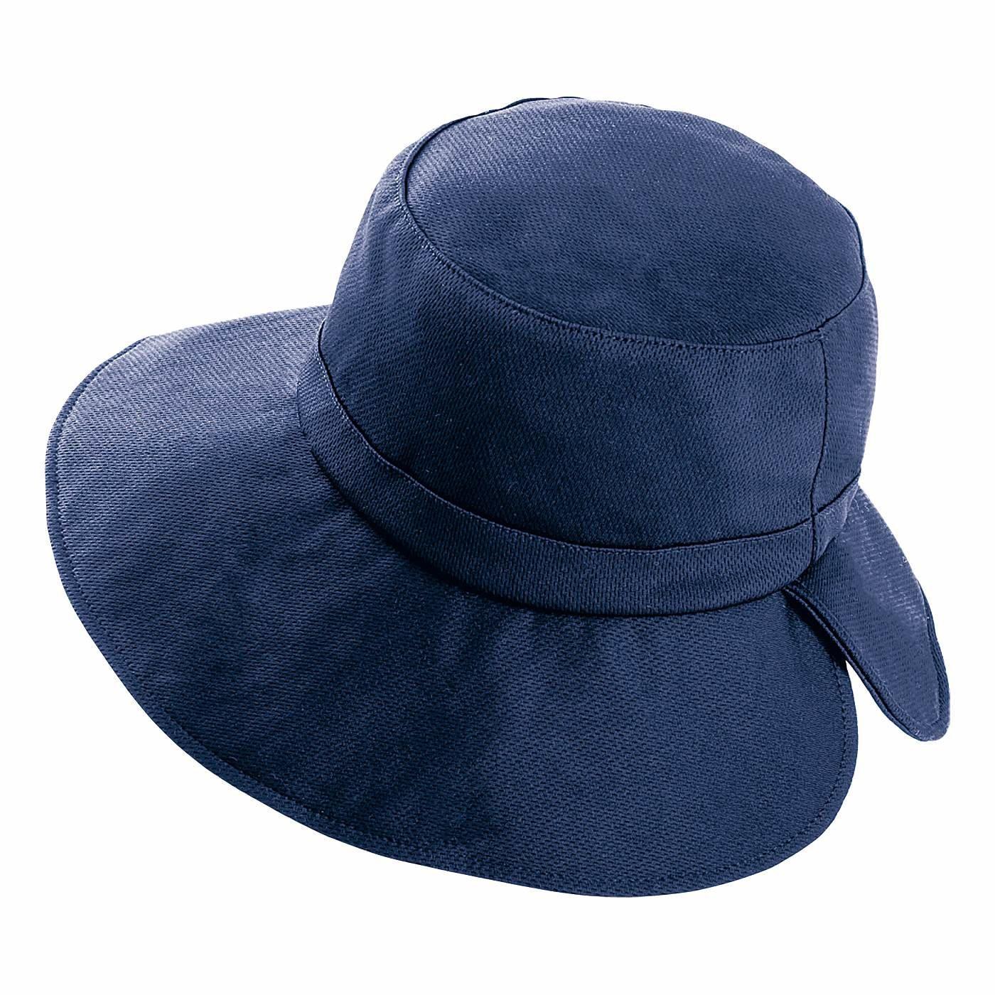 水にぬらしてクールダウン 猛暑対策 フレフレUVカットつば広帽子