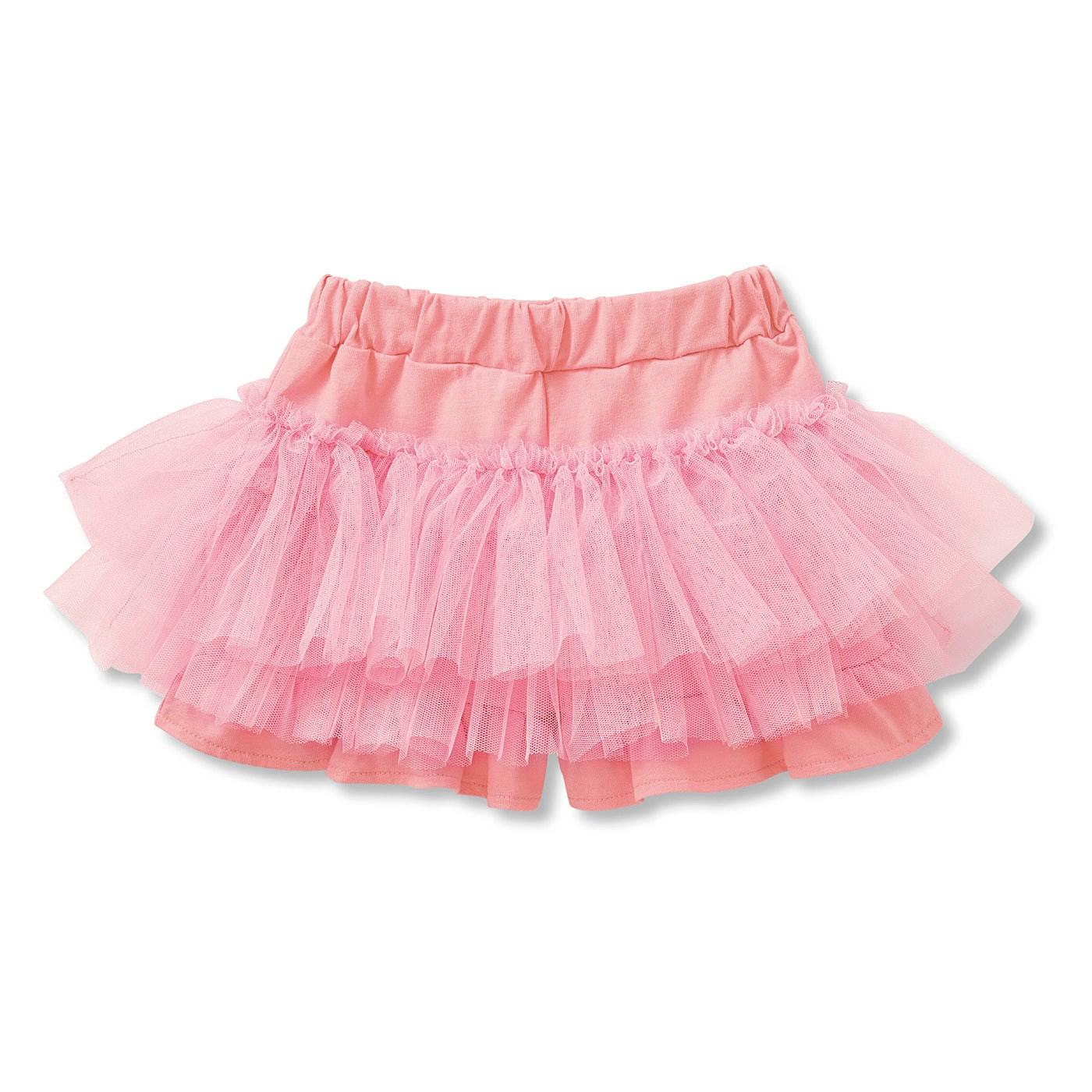 かわいいのに動きやすい ふわっふわのチュチュスカパン(ピンク)