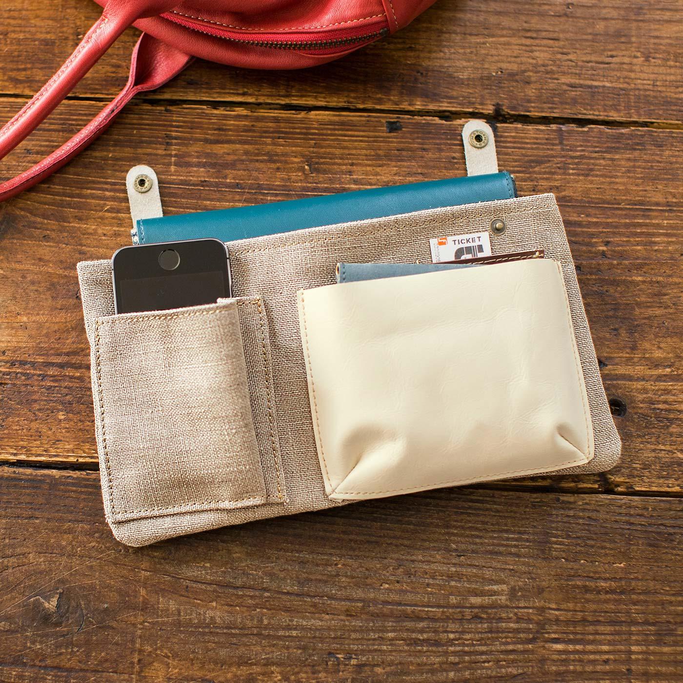 インナーポケットは取り外し可能なので、他のバッグへの移し替えもスムーズ。
